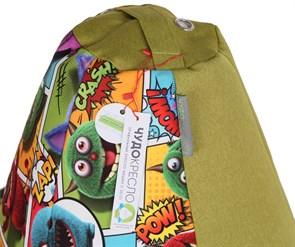Кресло-мешок-груша Монстры Микс Зеленый XXL - фото 5720
