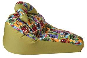 Кресло-мешок-груша Монстры Микс Зеленый XXL - фото 5722