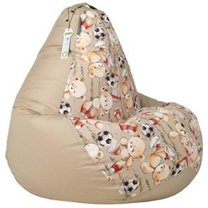 Кресло-мешок-груша Мишки бежевый XXL - фото 5733