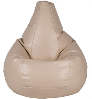 Кресло-мешок-груша из Экокожи бежевый XXL