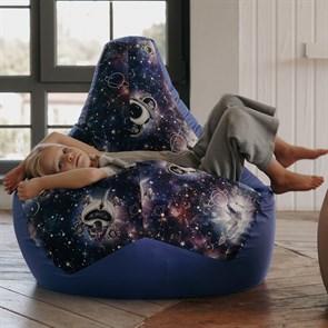 Кресло-мешок-груша Космопузики синий XL - фото 5791