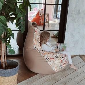 Кресло-мешок-груша Мишки бежевый XL - фото 5793