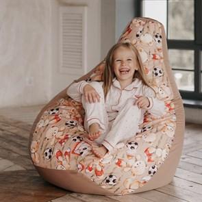 Кресло-мешок-груша Мишки бежевый XL - фото 5794