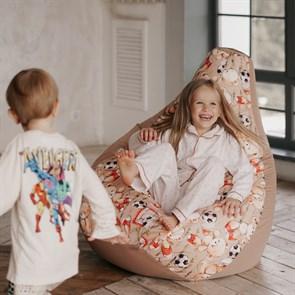 Кресло-мешок-груша Мишки бежевый XL - фото 5795