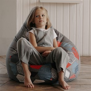 Кресло-мешок-груша Баблс серый L - фото 5799