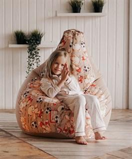 Кресло-мешок-груша Мишки бежевый XXL - фото 5834