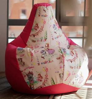 Кресло-мешок-груша Принцесски розовый XL