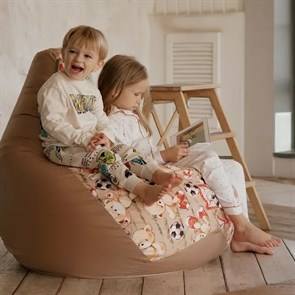 Кресло-мешок-груша Мишки бежевый XL - фото 5874