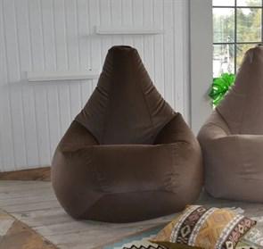 Кресло-мешок-груша Велюр коричневый XXL