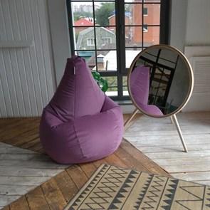 Кресло-мешок-груша из Велюра фиолетовый XXL - фото 5878