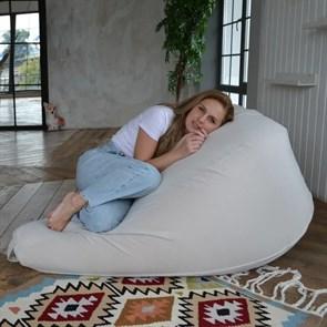 Кресло-мешок-груша из Велюра белый XXL - фото 5879