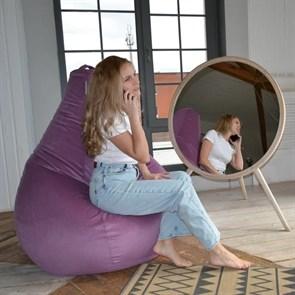 Кресло-мешок-груша из Велюра фиолетовый XXL