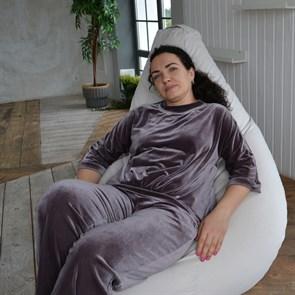Кресло-мешок-груша из Велюра белый XXL
